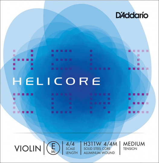 D' Addario Helicore E (Ball End) Medium - Violin