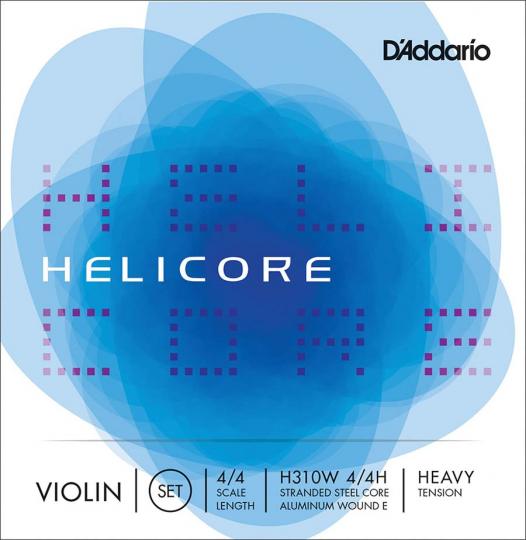 D' Addario Helicore Set (E Ball End) Strong - Violin