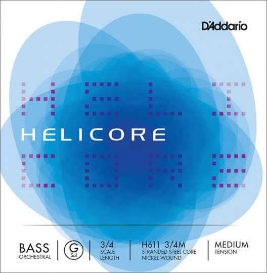 D' Addario Helicore G H - Double bass