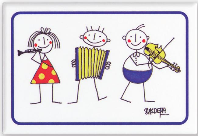 Magnet Violin 3 little Philharmonics