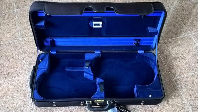 Winter 3032 double case Violin / Viola black/blue