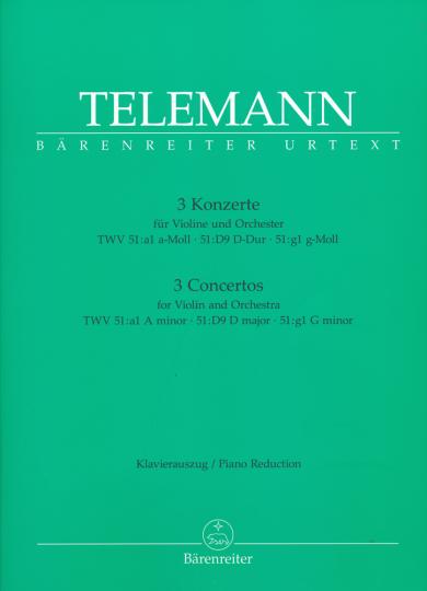 Telemann, 3 Konzerte für Violine und Orchester