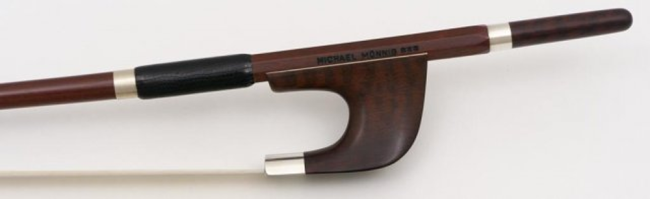 Michael Mönnig, Double bass Bow - French  *****, snake wood / silver mounted