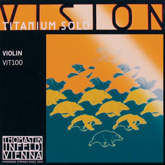 Thomastik Vision Titanium Set (E Ball & Loop End) Medium - Violin