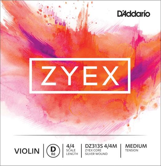 D´ADDARIO Zyex D Silver Medium - Violin