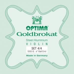 LENZNER-Optima Goldbrokat Set (E Ball End) Medium - Violin 3/4