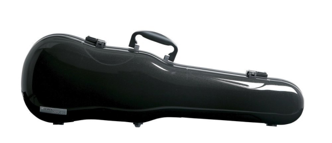 GEWA FORM SHAPED VIOLIN CASES AIR 1.7, black metallic high gloss