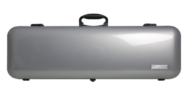 GEWA VIOLIN CASE AIR 2.1, Silver metallic high gloss