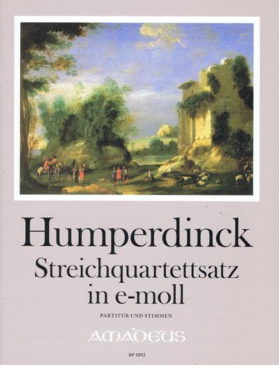 Humperdinck, Streichquartettsatz e-moll