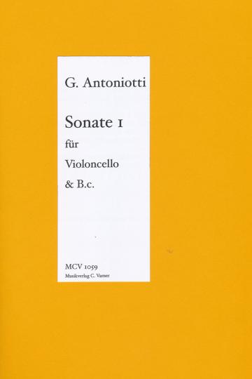 Giorgio Antoniotti - Sonata I for Cello & Piano