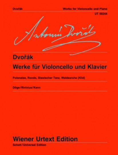 Antonín Dvorák Works for Cello and Piano